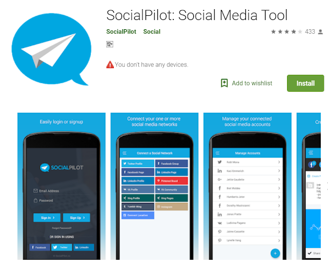 Socialpilot app is an android app for blogger . it will helps to understand .