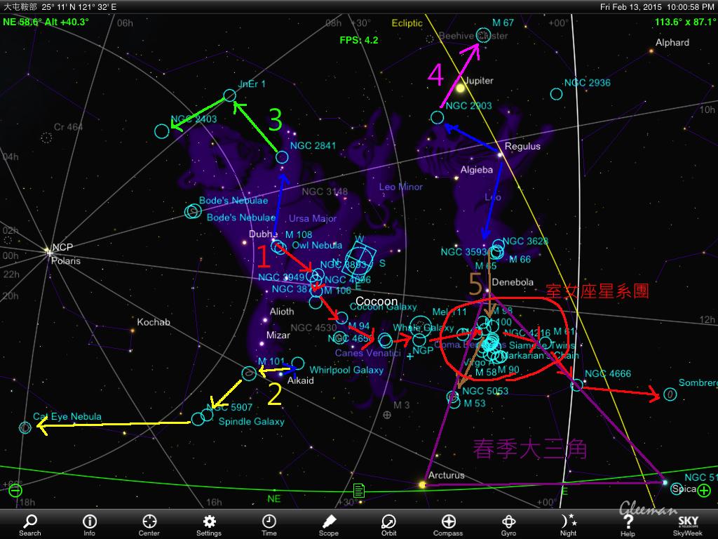Spring galaxies walk with Pentax O-GPS1