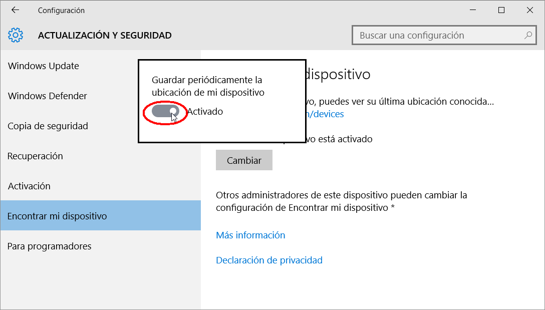 Windows 10 Encontrar PC