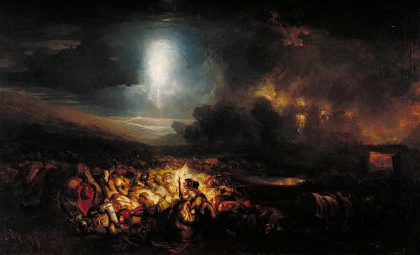 Field of Waterloo, Joseph Mallord William Turner, Macabre Art, Macabre Paintings, Horror Paintings, Freak Art, Freak Paintings, Horror Picture, Terror Pictures