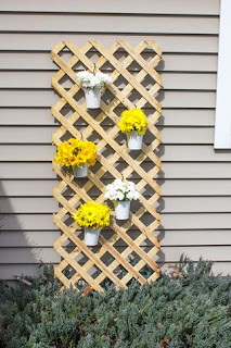 vertical lattice garden