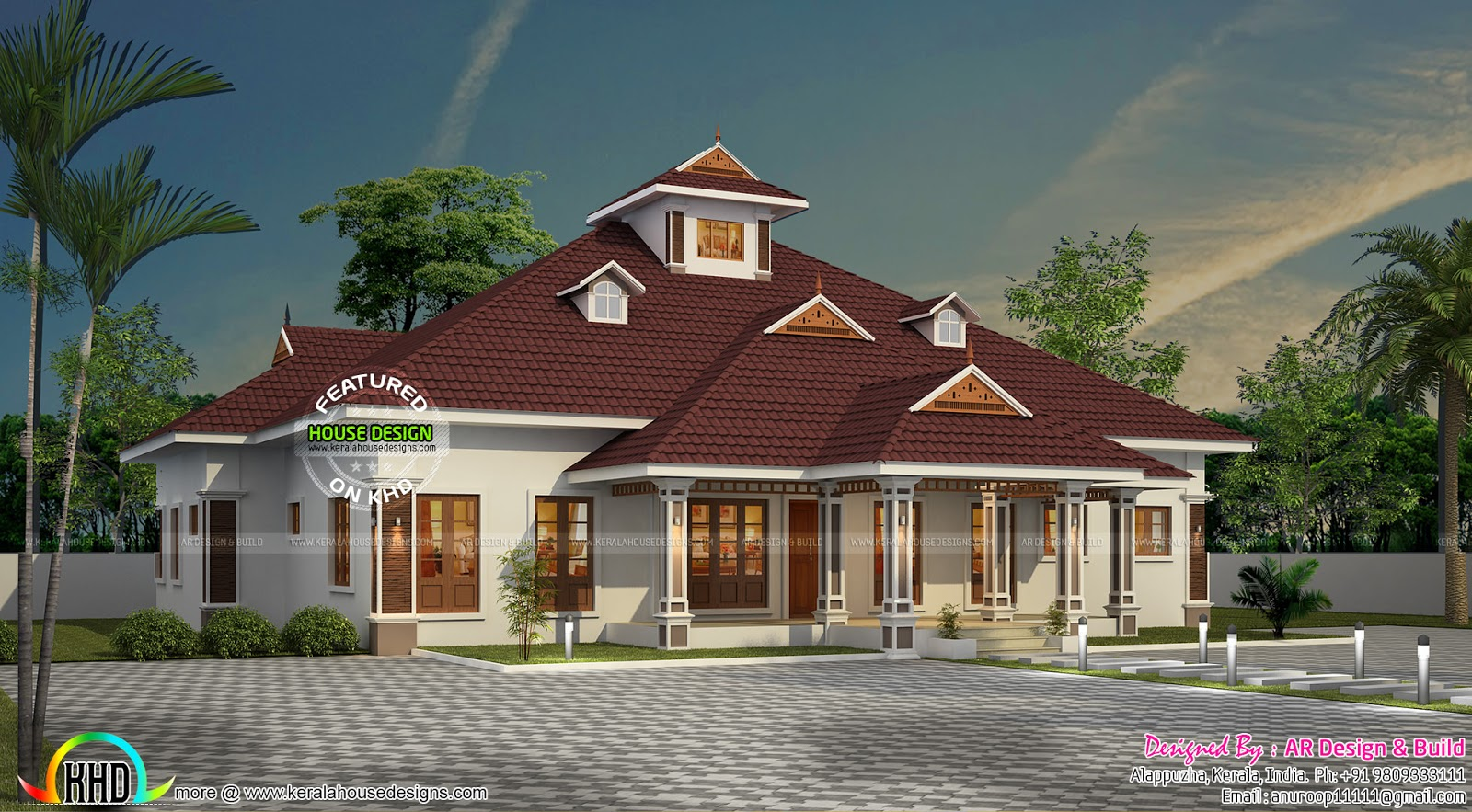Kerala Model Home With Dormer Windows Kerala Home Design