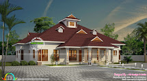 Kerala Model Home With Dormer Windows - Design
