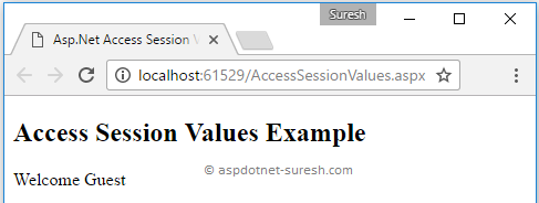 Access Asp.Net Session Variable Values in Client Side using JavaScript or jQuery
