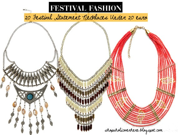 Affordable Festival Statement Necklaces
