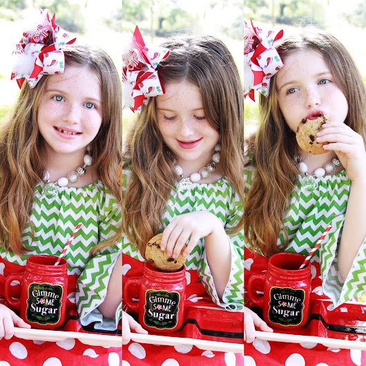 Christmas Photoshoot Cookies and Milk with Santa - Kids Photography-Beautiful Photo of the Week