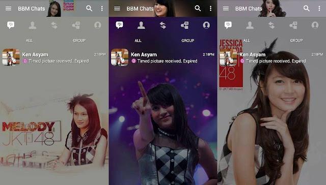 BBM Mod JKT48 V.3.3.4.48 Tema Melody + Nabilah + Veranda