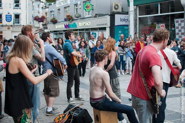 Música en las calles de Galway