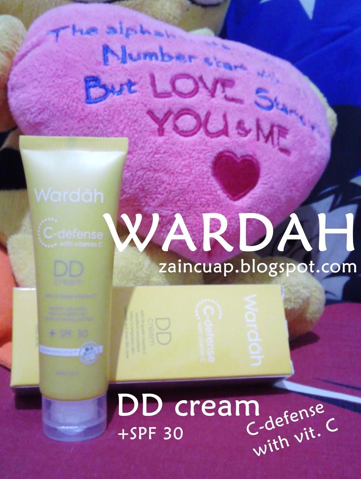 REVIEW WARDAH DD Cream C-defense with vitamin C - Cuap