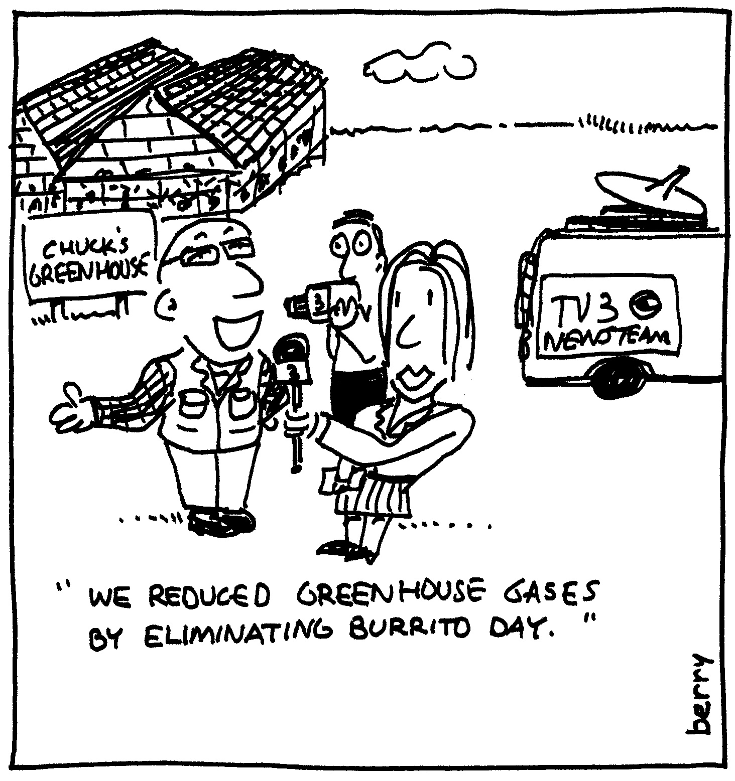 Berry Cartoons Greenhouse Gas Cartoon