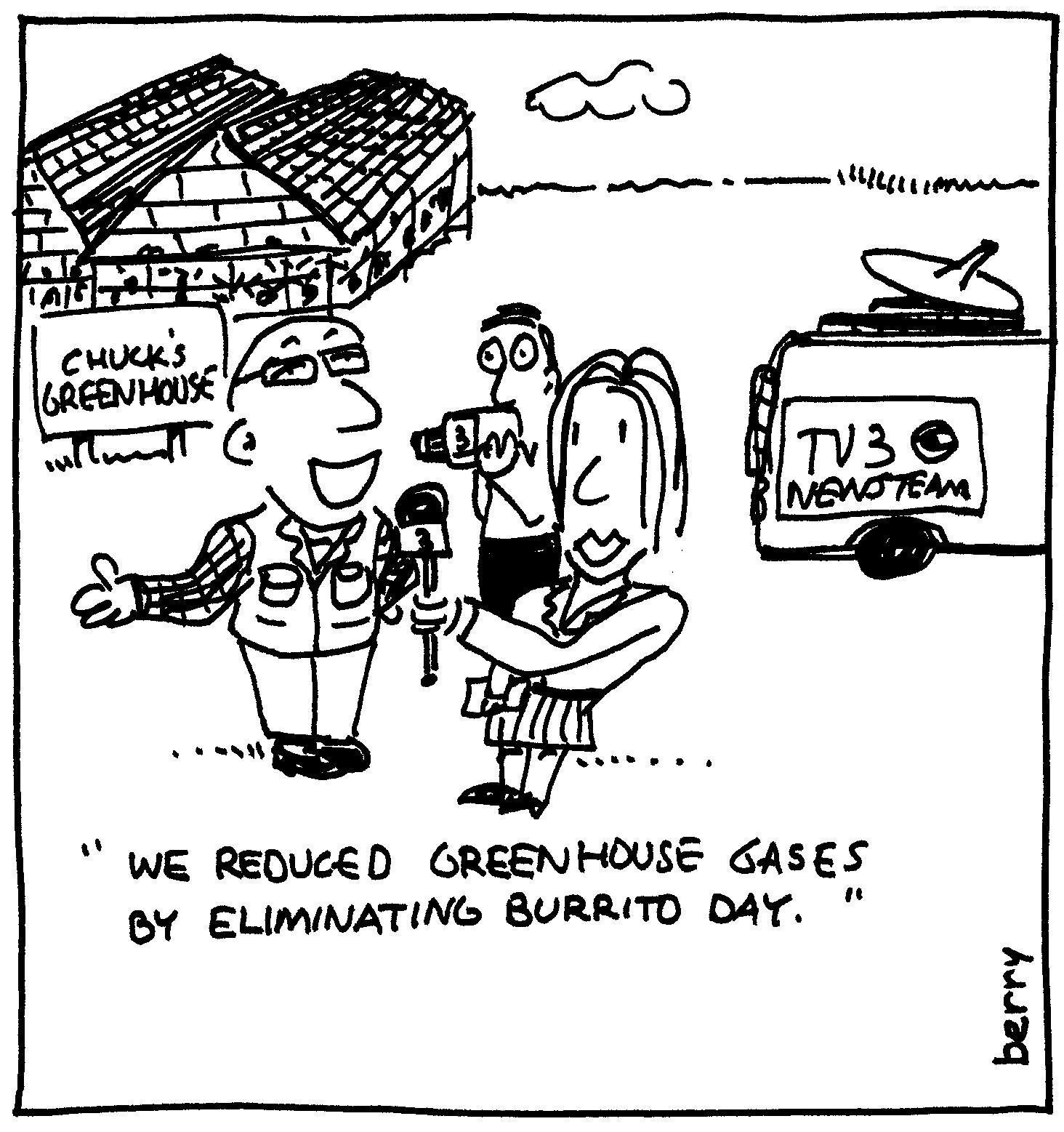 Berry Cartoons Greenhouse Gas Cartoon