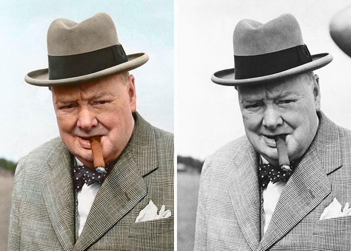 Digital Artist Colorizes The Last Heartbreaking Pictures Of A 14-Year-Old Polish Girl In Auschwitz - Winston Churchill