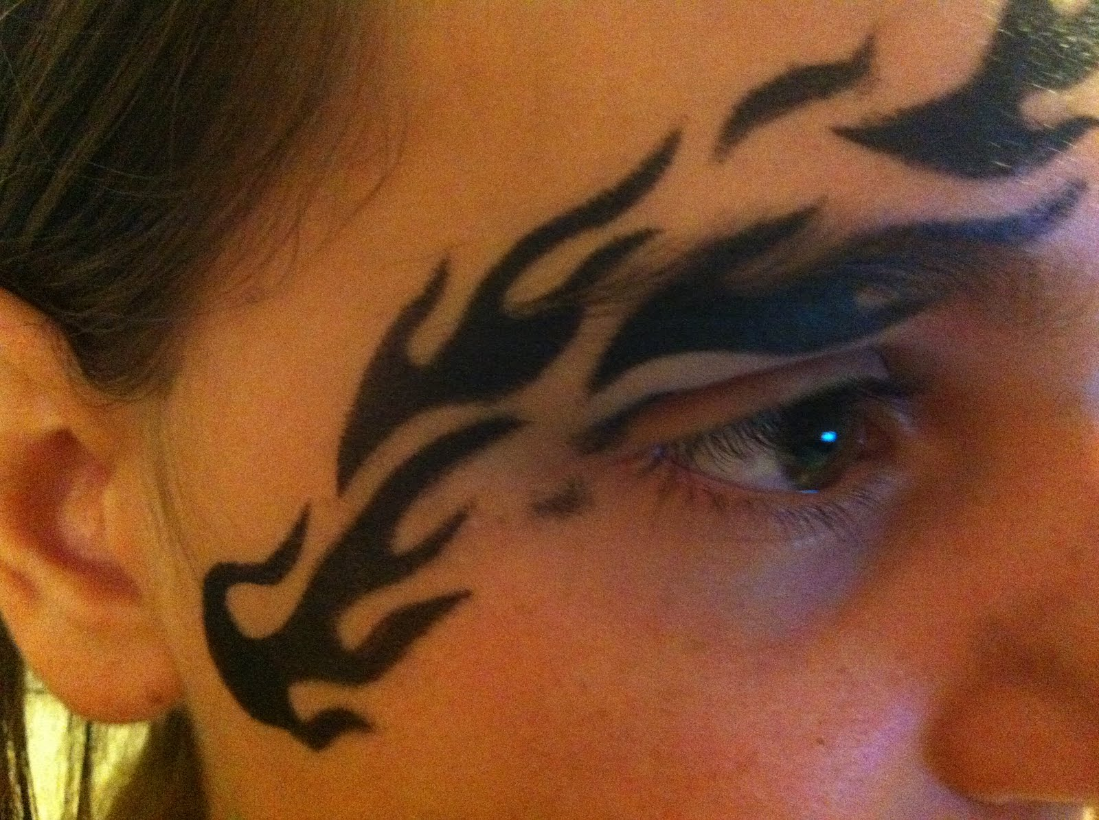 Cool Face Tattoos: Very Cool Face Painting: Temp Tattoos