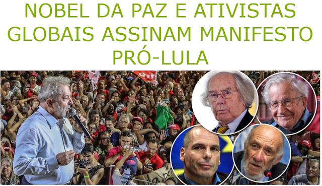 Resultado de imagem para Manifesto Eleição sem Lula é fraude