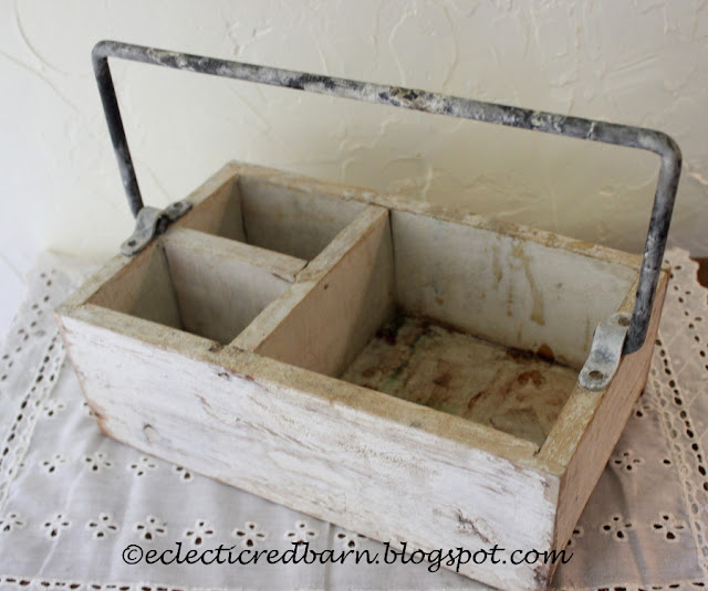 Eclectic Red Barn: Rescued white box from garbage