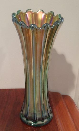 Living In The Past Grandmas Carnival Glass Vase