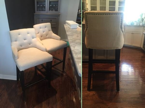 Beau Tufted Bar Stools   Sweet 16 Craigslist Scores