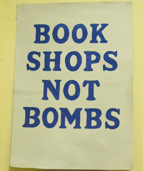 a notice in Quinto & Francis Edwards Booksellers at 72 Charing Cross Road.