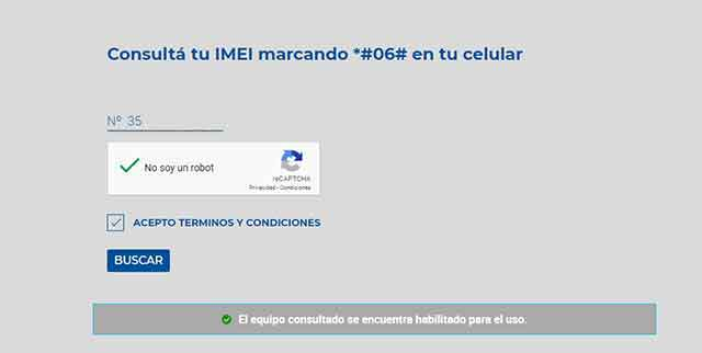 Consulta de Dispositivos por IMEI