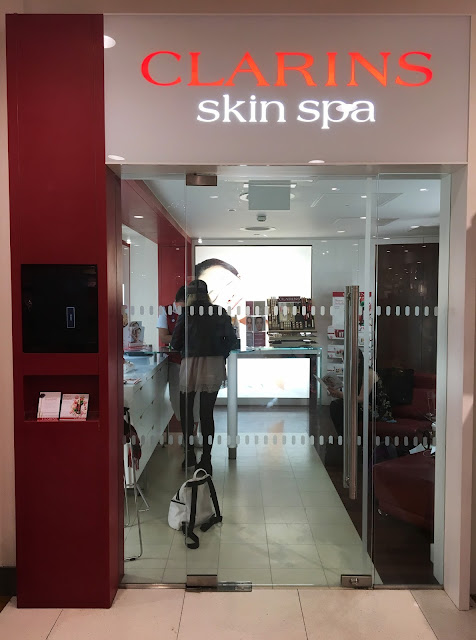 Front door of Clarins Skin Spa Liverpool