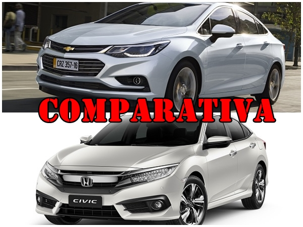 Comparativa Chevrolet Cruze II LTZ AT vs Honda Civic EXT CVT