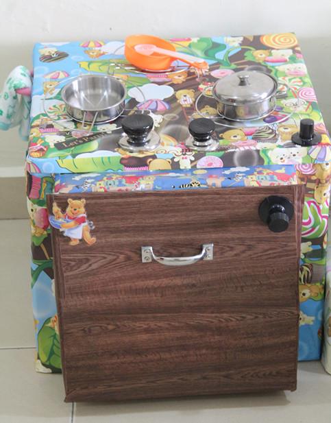 Kid Kitchens Kitchen Exhaust Vent Cover 做个快乐的自己 不起眼纸箱 Diy孩厨房 纸箱除的可以让你想到回收已及收纳一些杂物还能让你想到什么呢 你又能想到一个不起眼纸箱可以做出那么多小孩厨房工具吗