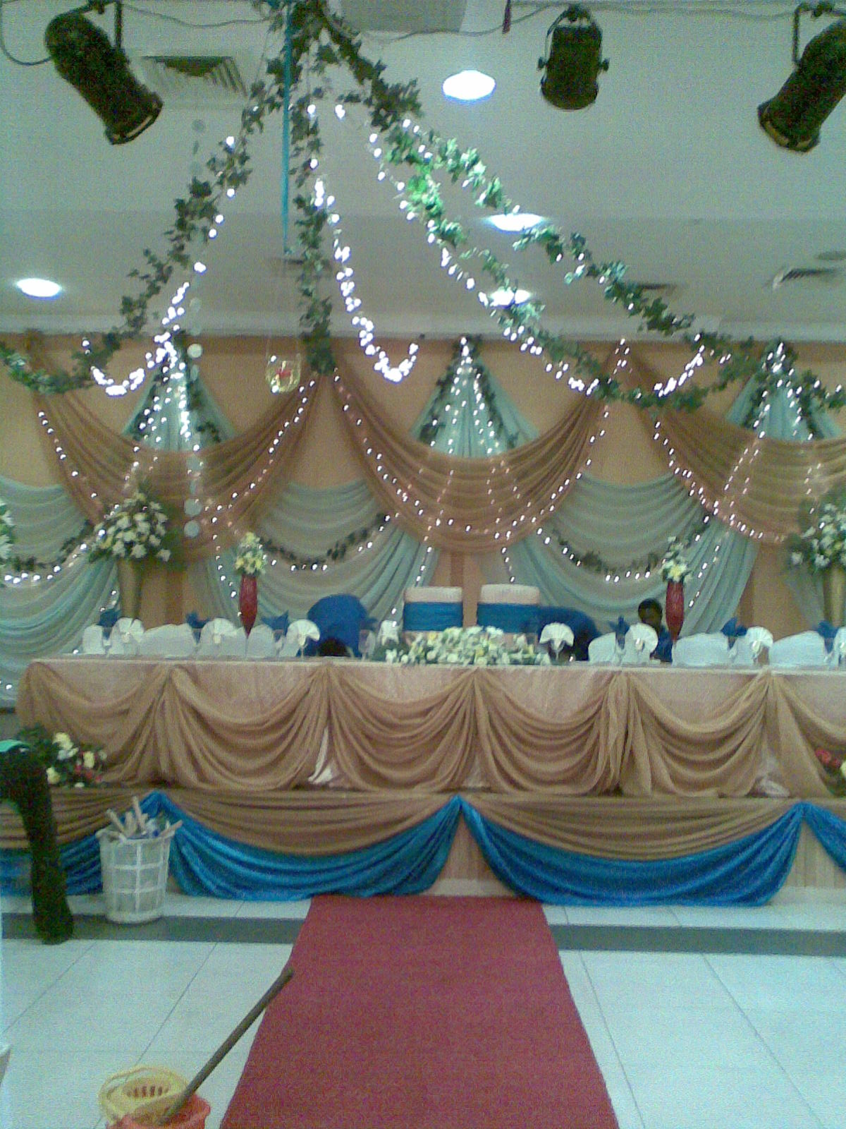 decoration decorations nigeria event exquisite interior kings independence marking gold