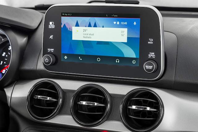 Fiat Argo - interior - central multimídia