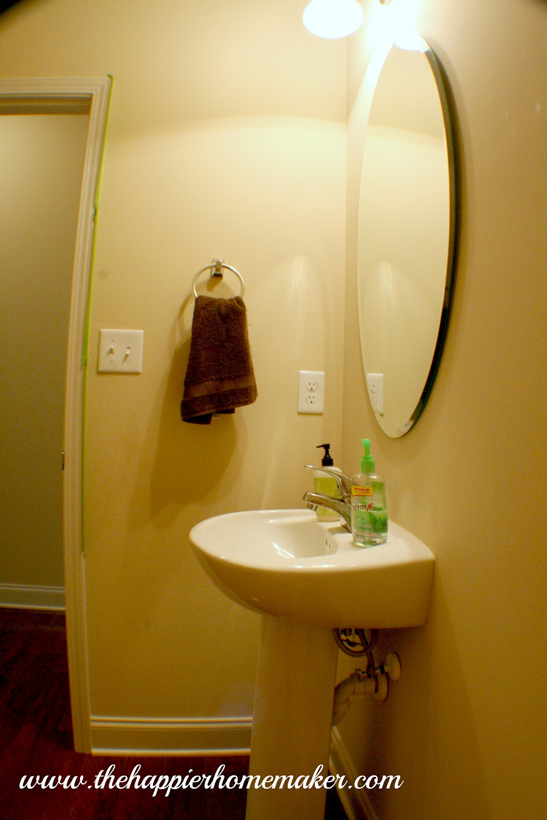 Powder room paint update the happier homemaker - What is a powder room ...