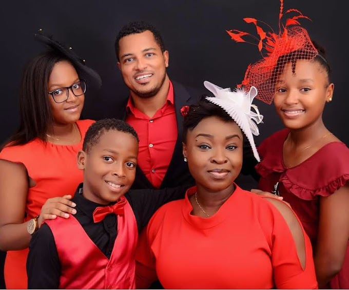 """I cannot trade this for anything"" – Van Vicker says as he Poses with Family"