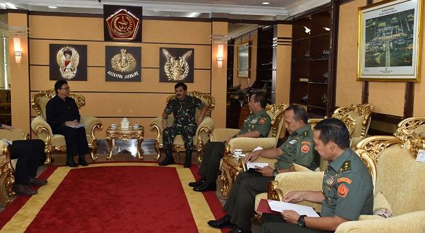 Panglima TNI Terima Audiensi Kepala BSSN