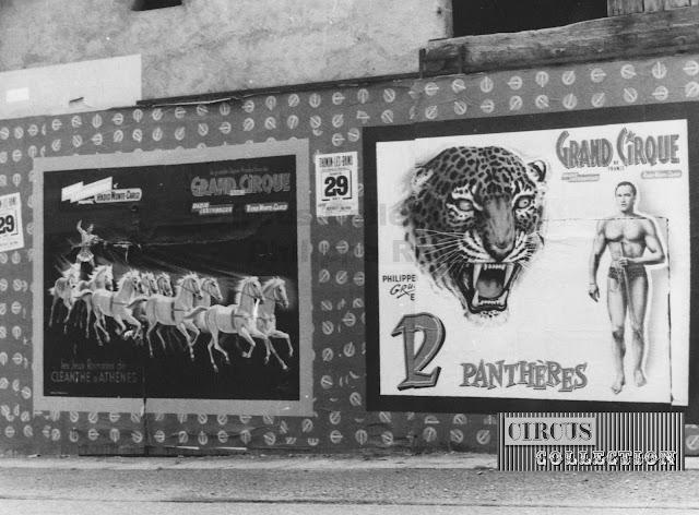 les affiches du Grand Cirque de France 1965,