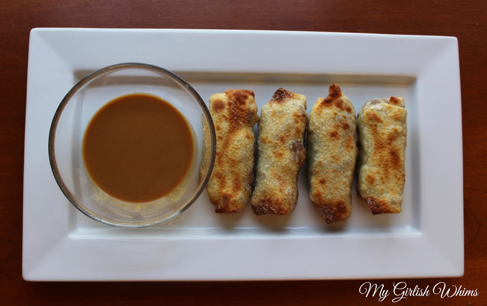 Air Fryer Egg Rolls With Pb2 Dipping Sauce My Girlish Whims