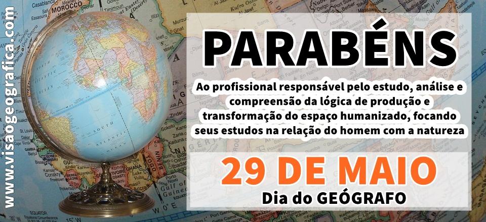 PARABÉNS AOS GEÓGRAFOS (AS)