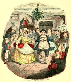 Mr Fezziwig's Ball by John Leech from A Christmas Carol  by Charles Dickens (1920 reprint of original 1843 edition)