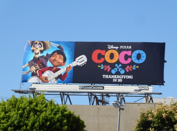 Coco movie billboard