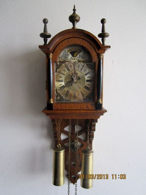 Antique Clocks Warmink Dutch 8 Day Oak
