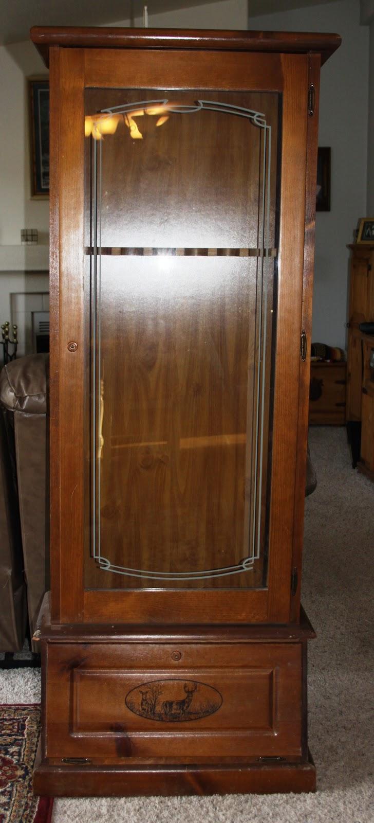 GLASS DOOR FOR GUN CABINET  Cabinet Doors