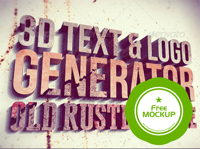 Free Download MockUp 3D Text Generator - Free Download Graphicriver