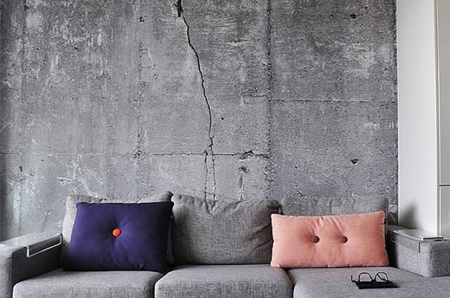 Tapet betong vardagsrum spricka grå fototapet