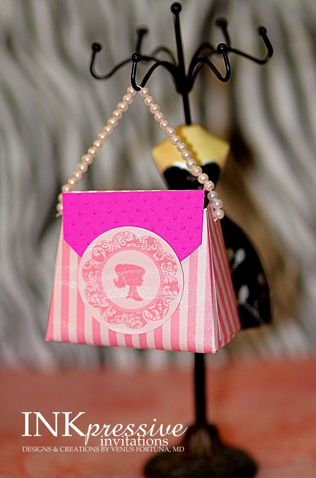 Barbie Handbag Invitation Inkpressive Invitations And Crafts