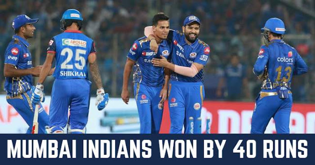 VIVO IPL 2019 Match 34 DC vs MI Live Score and Full Scorecard