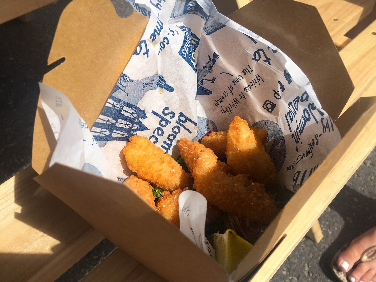 Pommery Dorset Seafood Festival in Weymouth, scampi, street food, food bloggers, lifestyle bloggers
