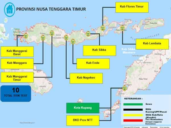 Lokasi Tes Cat BKN Propinsi Nusa Tenggara Timur