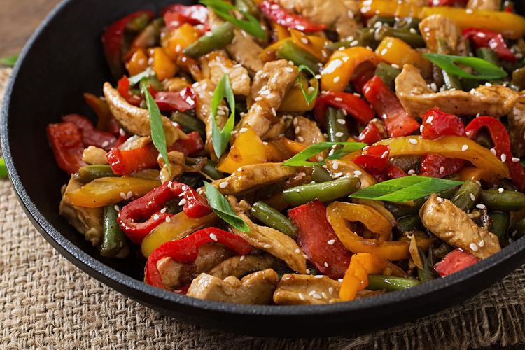Stir-Fry Sesame Chicken -Diabetic