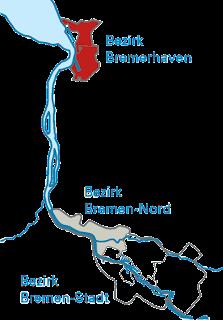 Plan de l'autoroute Bremerhaven-Bremen