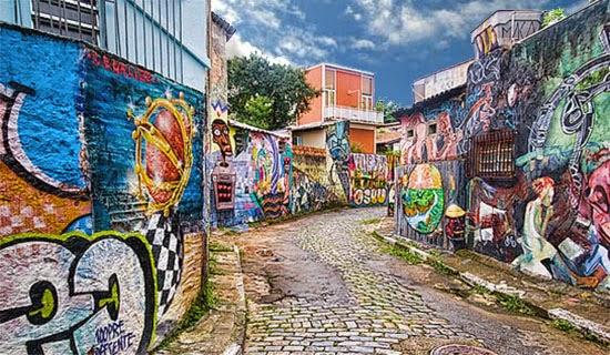 Beco do Batman Rua Gonçalo Afonso na Vila madalena São Paulo
