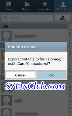 Copy Move Export Import Contacts From Android To Samsung Galaxy S7 & Galaxy S7 Edge