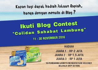 Kontes Blog Colidan Sahabat Lambung Berhadiah Total 5 Juta Rupiah