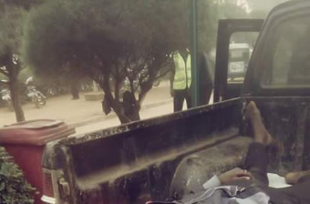 Graphic photos: President of Ebonyi state University's senate dies in auto crash